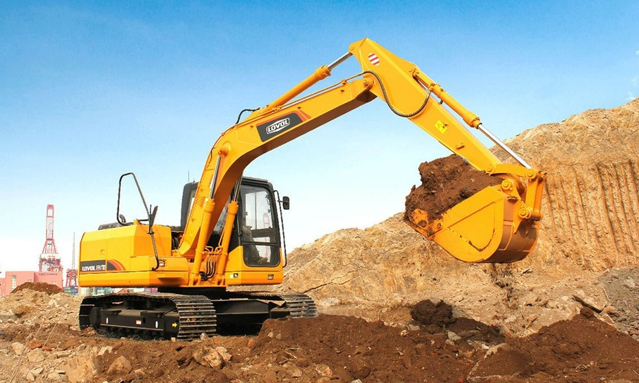 Monitoring system for excavator, forklift