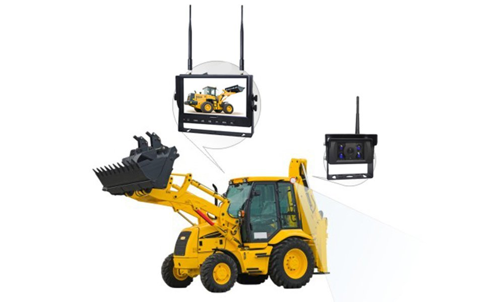 Monitoring system for excavator, forklift