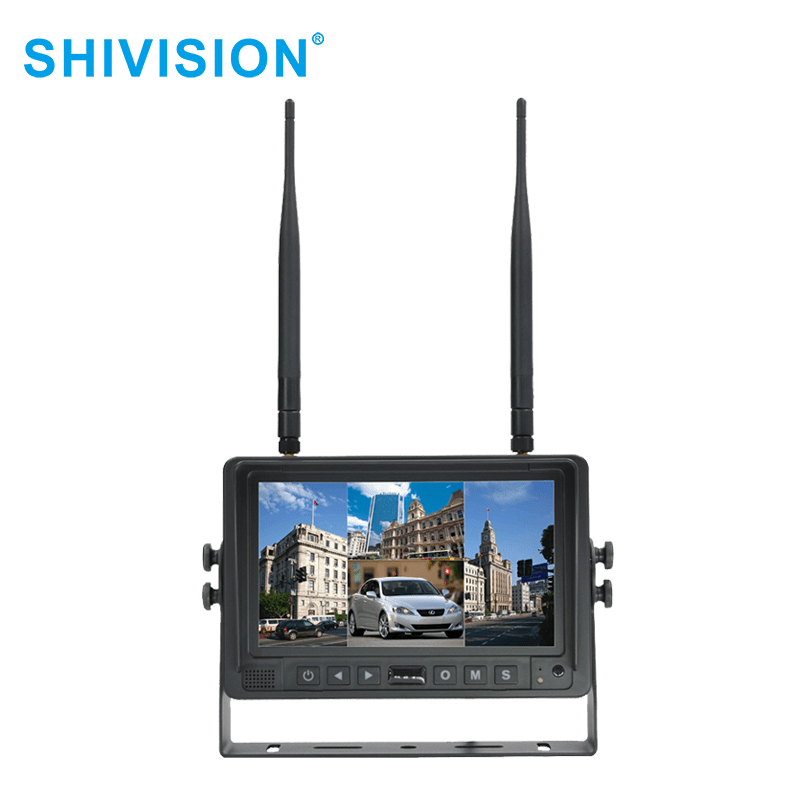 SHIVISION-M02074ch-7 inch car monitor-2.4G Digital Wireless Monitor