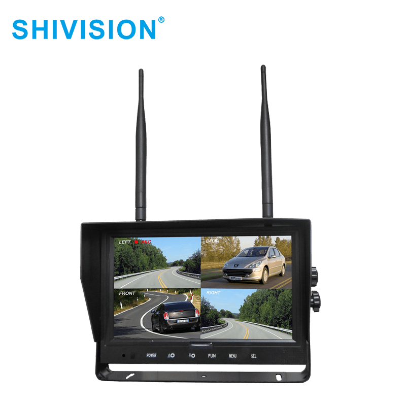 SHIVISION-M02094ch-9  inch car monitor-2.4G Digital Wireless Monitor